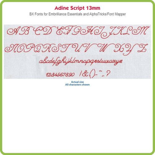 Adine Script 13mm BX File - Download Only