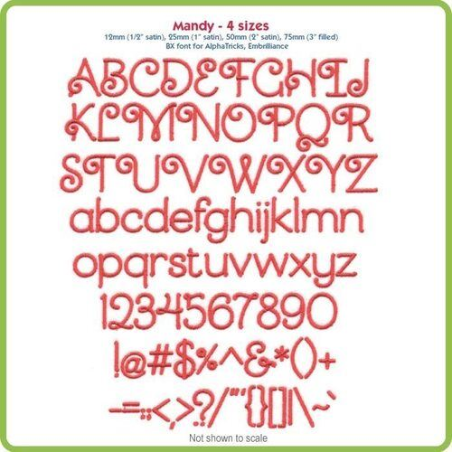 Mandy BX Font - Various Sizes - Download Only