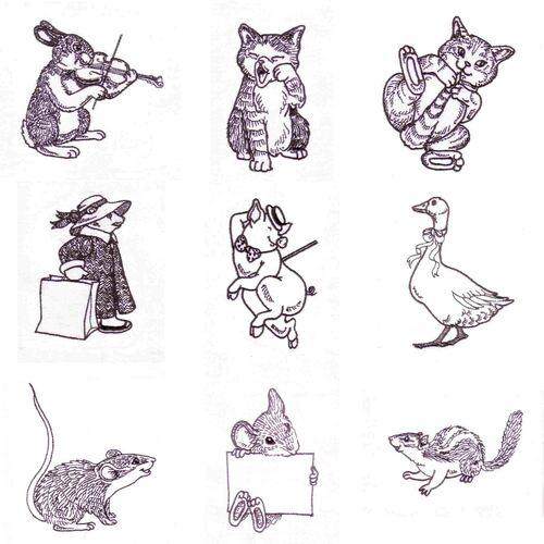 Redwork Critters (60 designs) by Outback Embroidery - Download