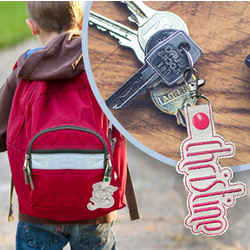Create an embroidered key fob using Embrilliance main image